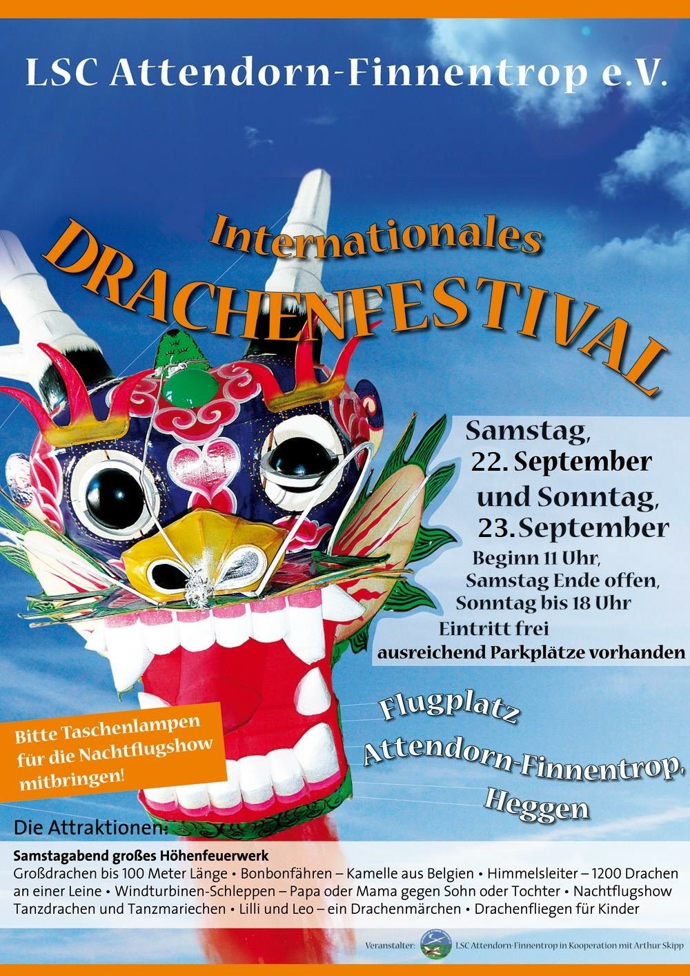 Read more about the article 14. Internationales Drachenfestival am 22. & 23. September 2018