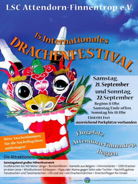 15. Internationales Drachenfestival am 21. & 22. September 2019